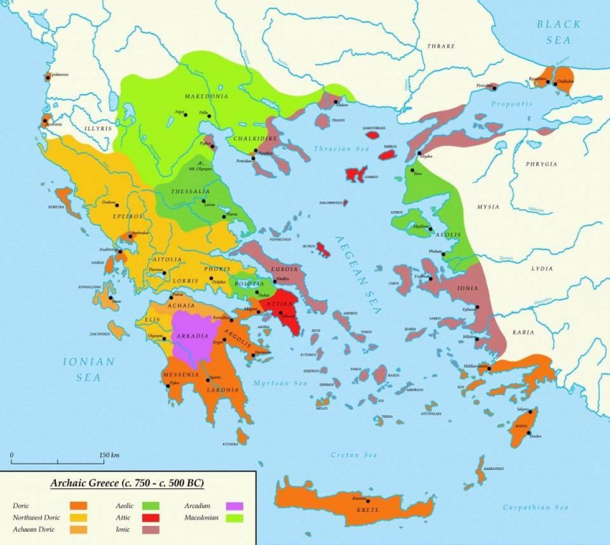 Karta Aten Grekland.Aten I Det Antika Grekland Karta Karta Over Aten Och Sparta I Det