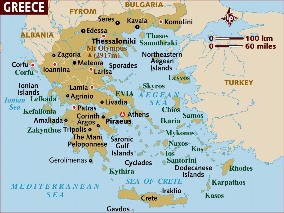 Karta Aten Grekland.Aten Pa Kartan Aten Karta Lage Grekland