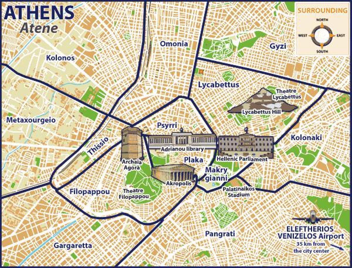 Karta Aten Grekland.Omonia I Aten Karta Karta Over Omonia I Aten Grekland